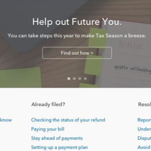 Tax Design Challenge Submission, IRS My Account, thumbnail