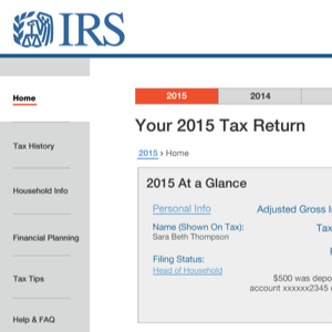 Tax Design Challenge Submission, IRS.gov, thumbnail