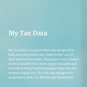 Tax Design Challenge Submission, My Tax Data, thumbnail