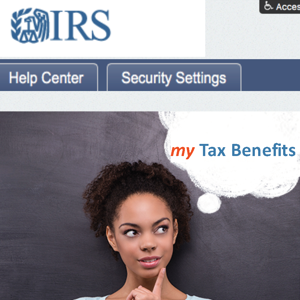 Tax Design Challenge Submission, my IRS Account, thumbnail